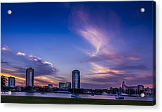 St. Pete At Sunset Acrylic Print