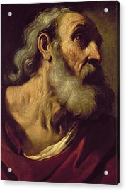 St. Peter Acrylic Print by Guercino