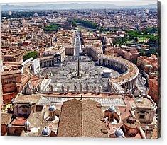 St. Peter Square, Rome Acrylic Print by Luigi Masella