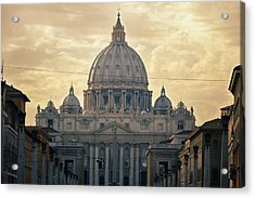 St Peter's Afternoon Glow Acrylic Print by Joan Carroll