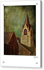 St Peter's By Night Greeting Card Acrylic Print