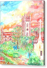 St Peter's Church - St Albans Acrylic Print by Giovanni Caputo