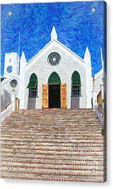 Acrylic Print featuring the photograph St. Peter's Church  by Verena Matthew