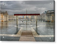 Acrylic Print featuring the photograph St. Peter's Square by Glenn DiPaola