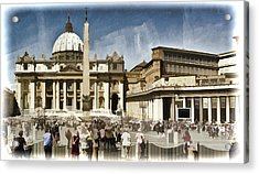 St Peters Square - Vatican Acrylic Print by Jon Berghoff