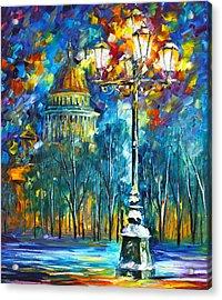 St. Petersburg New Acrylic Print by Leonid Afremov