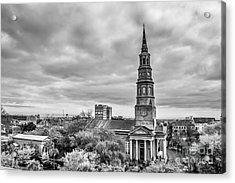 St. Philip's Church X Downtown Charleston Acrylic Print by Philip Jr Photography
