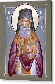 St Porphyrios The Kavsokalyvitis Acrylic Print by Julia Bridget Hayes