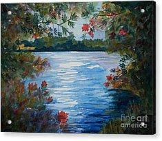 St. Regis Lake Acrylic Print by Ellen Levinson