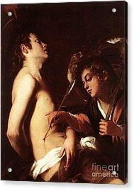 St Sebastian Healed By An Angel Acrylic Print