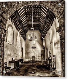 St Seirio Church Acrylic Print by Adrian Evans