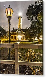 St. Simons Lighthouse Acrylic Print by Debra and Dave Vanderlaan