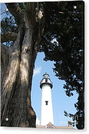 St. Simon's Lighthouse Acrylic Print by Gretchen Allen