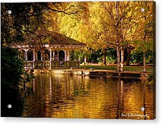 St Stephen Green Dublin Acrylic Print by Paul Dillon