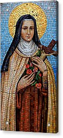 St. Theresa Mosaic Acrylic Print
