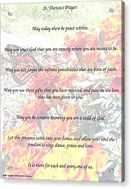 St Theresa's Prayer Acrylic Print