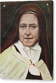 St. Therese Of Lisieux Acrylic Print by Sheila Diemert