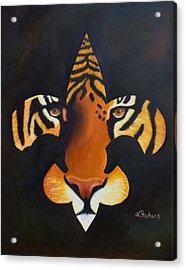 St. Tiger Acrylic Print by Nina Stephens