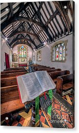 St Tysilios Bible Acrylic Print by Adrian Evans