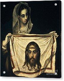 St Veronica With The Holy Shroud Acrylic Print by El Greco Domenico Theotocopuli