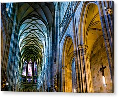 St Vitus Cathedral Acrylic Print by Dave Bowman