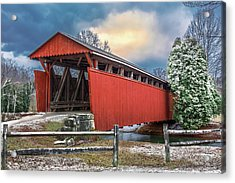Staats Mill Covered Bridge Acrylic Print