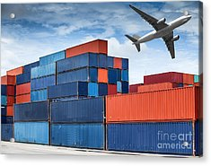 Stack Of Cargo Containers  Acrylic Print