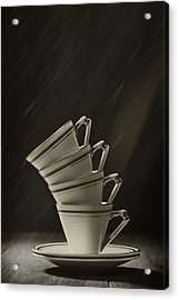 Stack Of Cups Acrylic Print by Amanda Elwell