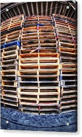 Stack Of Pallets Acrylic Print by Rscpics