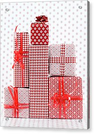 Stack Of Wapped Gifts Acrylic Print by Muriel De Seze