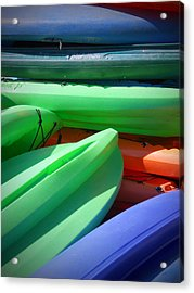 Acrylic Print featuring the photograph Stacked by Judy Hall-Folde