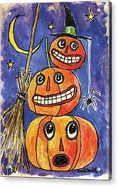 Stacked Pumpkins Acrylic Print by Anne Tavoletti