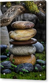 Stacked Stones A5 Acrylic Print by Marco Oliveira