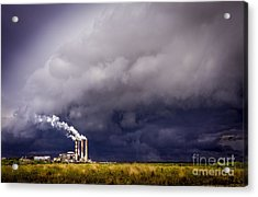 Stacks In The Clouds Acrylic Print by Marvin Spates
