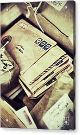 Stacks Of Old Mail Acrylic Print by Birgit Tyrrell