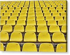 Stadium Seats Acrylic Print by 35007