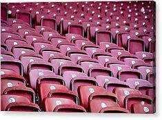 Stadium Seats Acrylic Print by Frank Gaertner
