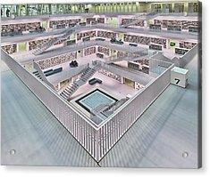 Stadtbibliothek Stuttgart Inner Space I Acrylic Print