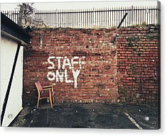 Staff Only Acrylic Print