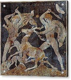 Stag Hunt Mosaic, 4th Century Bc Acrylic Print