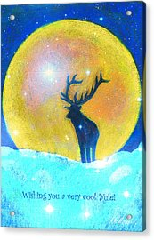 Stag Of Winter Acrylic Print