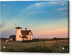 Stage Harbor Lighthouse Acrylic Print by Bill Wakeley