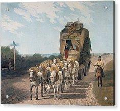 Stage Wagon Acrylic Print by English School