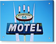 Acrylic Print featuring the photograph Stagecoach 66 Motel by Gigi Ebert