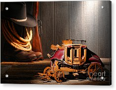 Stagecoach Dream Acrylic Print by Olivier Le Queinec