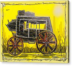 Acrylic Print featuring the mixed media Stagecoach by Jason Girard