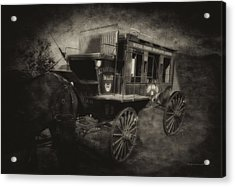 Stagecoach West Antique Textured Acrylic Print