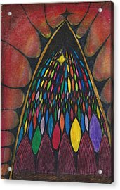 Stain Glass Window Drawing Acrylic Print by Cim Paddock