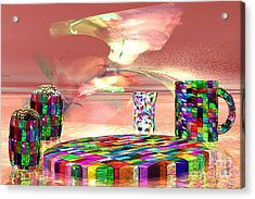 Stained Dinnerware Acrylic Print