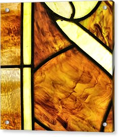 Stained Glass 2 Acrylic Print by Tom Druin